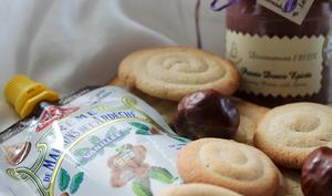 Biscuits spirales à la crème de marrons