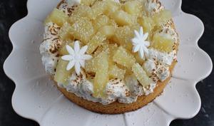 Palet Breton coco vanille à l'ananas et meringué