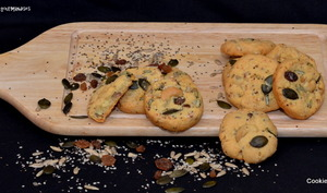 Cookies apéritif aux graines.