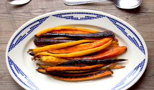 Carottes rôtis à l'huile de coco