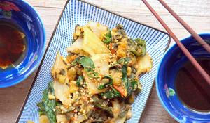 Blettes sautées aux pois cassés et quinoa