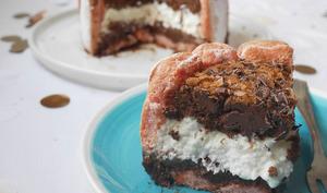 Charlotte chocolat praliné et noix de coco