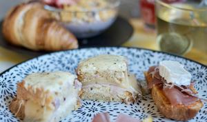 «Cake-monsieur» bacon-raclette