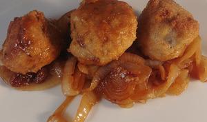 Boulettes de bœuf aux oignons