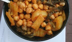 Chou chinois Pak-choï façon curry