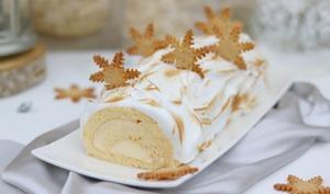 La bûche de Noël comme une tarte au citron meringuée