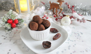 Truffes crues chocolat orange