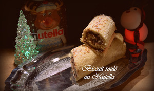 Biscuit roulé au Nutella