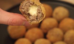 Croquette de viande et fromage
