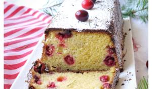 Cake de Noël aux cranberries et au cream cheese