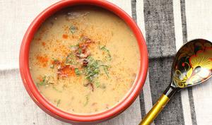Soupe slave aux pommes de terre et champignons séchés