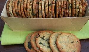 Crackers de chou kale pour l'apéro