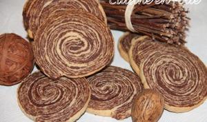 Sablés spirale chocolat vanille