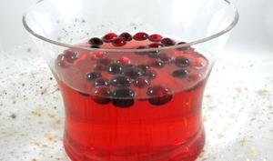 Soupe de Champagne de Noël aux cranberries