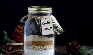 Cookie mix aux pépites de chocolat en bocal