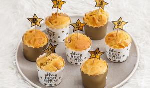 Muffins au jambon et à la mimolette