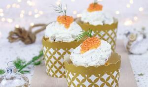 Muffins au saumon, aneth et crème mascarpone au citron