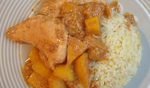 Curry de poulet aux mangues