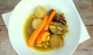 Filet mignon aux petits légumes et épices à tajine