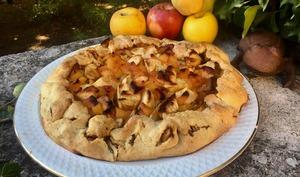 Tarte rustique pommes coings