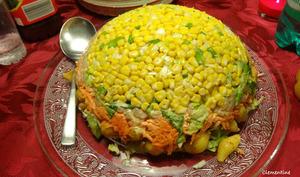 Salade rétro en plusieurs couches de Jamie Oliver