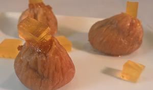 Figues farcies au foie gras et gelée de monbazillac