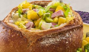 Salade de jambon, ananas et kiwi