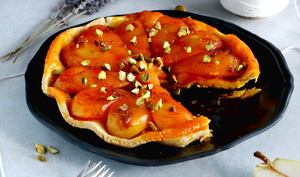Tarte Tatin de poires au safran