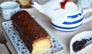 Cake chocolat caramel façon Twix
