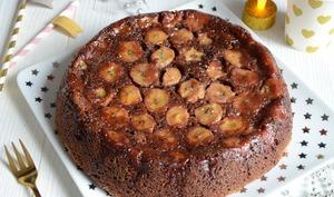 Gâteau renversé banane chocolat