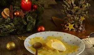 Ravioles d'ananas mascarpone et caramel