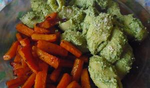 Lumaconi à la ricotta vegan d'épinards-tofu et frites de butternut