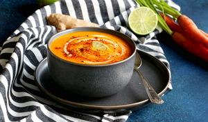 La meilleure soupe de carottes au gingembre et citron vert