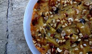 Gâteau à la polenta et aux fruits