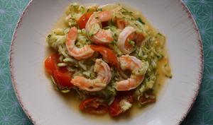 Courgettes aux crevettes saveur mojito