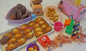 Madeleines aux coques chocolatées