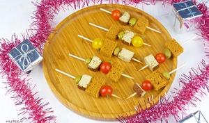 Brochettes de Noël au pain d'épices vegan