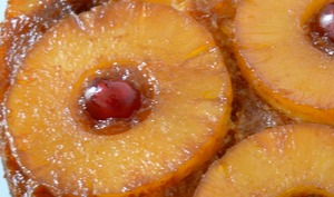 Gâteau renversé ananas coco