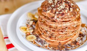 Pancake à la noisette et pépites de chocolat