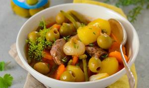 Navarin d'agneau aux olives vertes