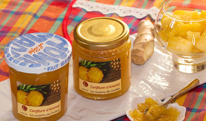 Confiture d'ananas au gingembre, vanille de Tahiti et Yuzu