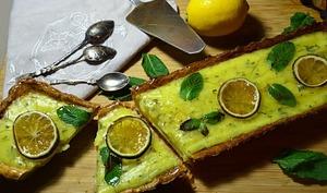 Tarte mojito citron rhum et menthe