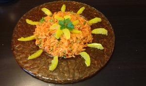 Salade orientale carotte, orange et coriandre