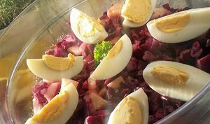 Salade de chou rouge et pomme