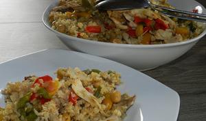 Boulgour aux poulet et ses légumes