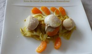 Noix de Saint-Jacques aux clémentines