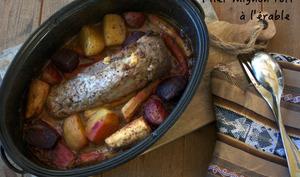 Filet mignon rôti à l'érable, carottes, panais et betteraves