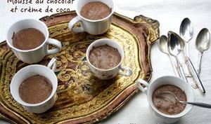 Mousse au chocolat noir et crème de coco