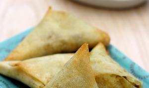 Samoussas aux salsifis et curry