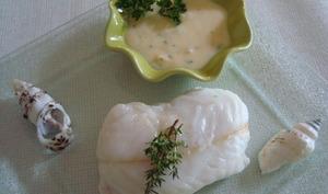 Dos de cabillaud, sauce au beurre blanc
